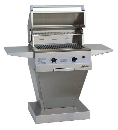 Solaire 27-Inch Deluxe Infravection Propane Pedestal Grill, Stainless Steel