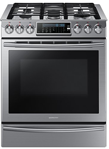Samsung NX58H9500WS Slide-In Stainless Steel Gas Range with 5 Sealed Burners, 30-Inch (Gas Ranges Samsung compare prices)