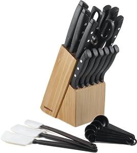 Farberware 22-Piece Wave Edge Cutlery Set by Farberware