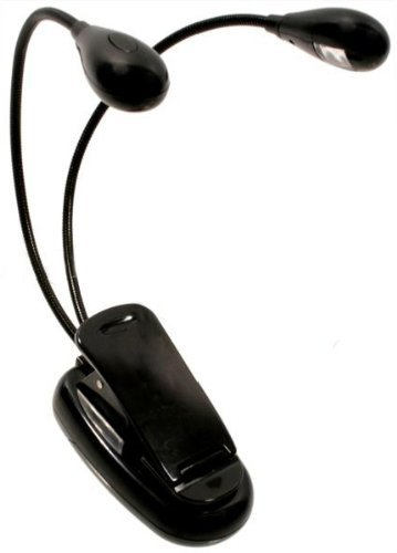Niceeshop(Tm) Flexible Dual Arm Led Clip-On Lamp / Light For Book / Kindle Reading - Black