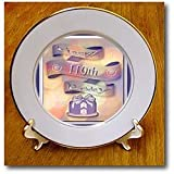 Beverly Turner Birthday Design Ribbon and Cake Happy 110th Birthday Plates