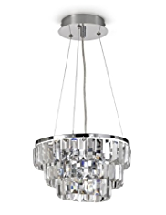 Floating 3-Tier Ceiling Glass Pendant