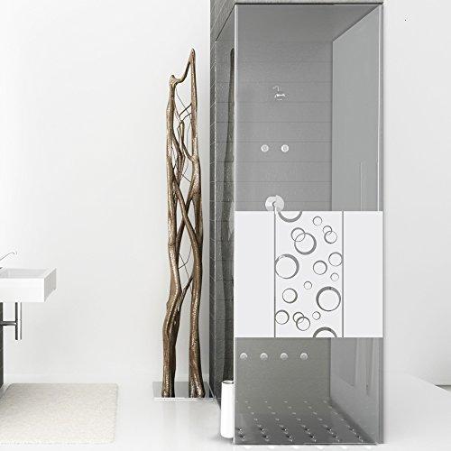Sichtschutzdekor Duschtür Dusche Milchglasfolie für Badezimmer Blasen Deko (80x57cm)