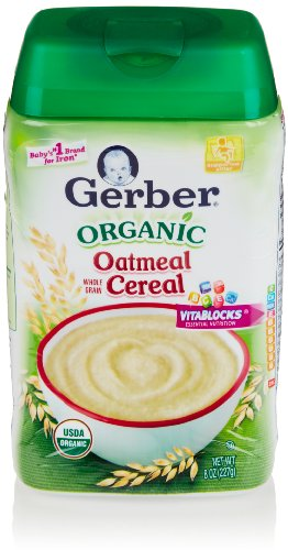 Gerber Baby Cereal, Organic Oatmeal, 8 Oz