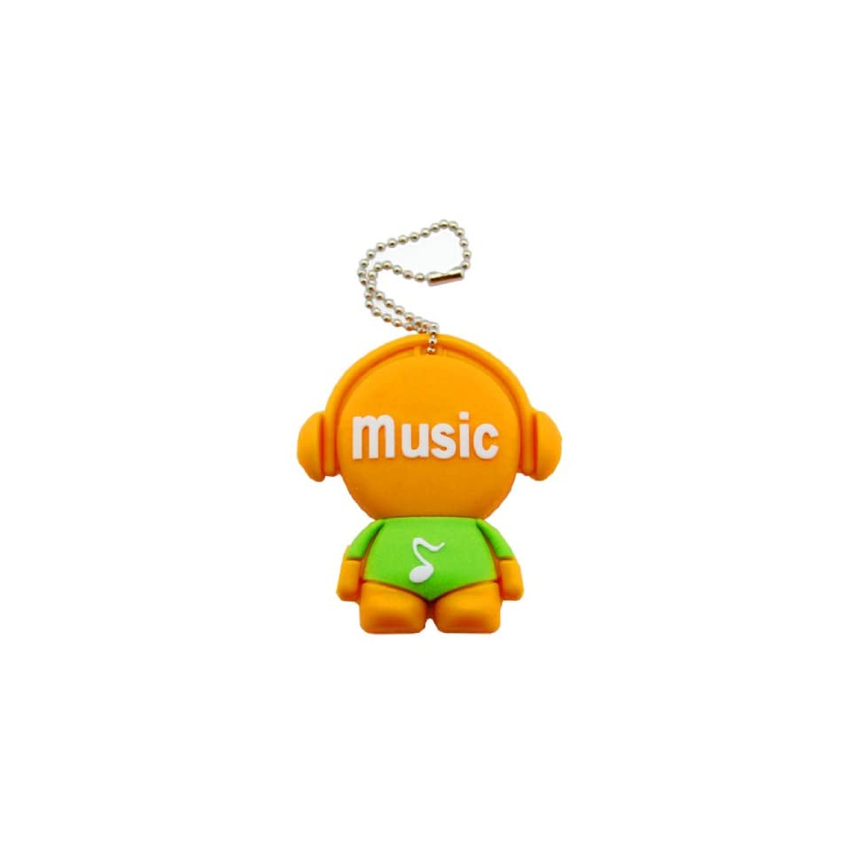 Cartoon Qute High Quality 32gb USB Flash Drive Memory  Orange green Music Men
