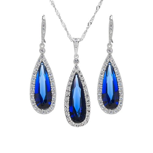 jewelry sets gift set avana 39 s faux sapphire jewelry set