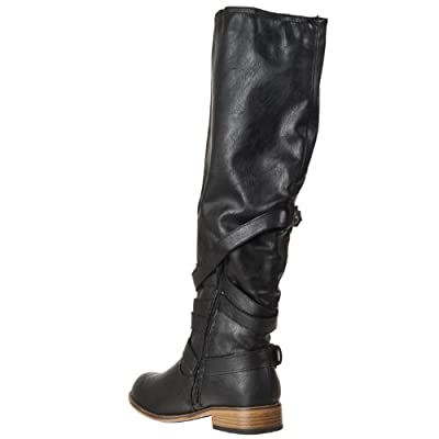 Riverberry Womens Parksville Knee-high Strap-detail Fashion Boots