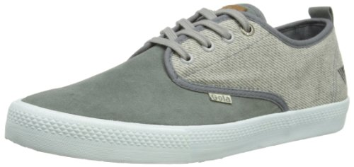Gola Mens Falcon Tweed Mix Low-Top CMA 556 Light Grey Tweed/Grey 8 UK, 42 EU