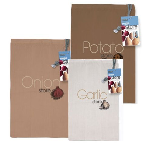 Set of 3 Eddingtons Store Bags: Onion, Potato & Garlic by Eddingtons