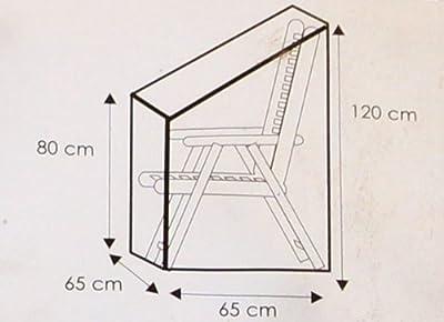 Deluxe Schutz Gartenstuhl Terassenstuhl Hülle Überzug Schutzhülle für Stapel und Relaxstühle von Wehncke - Gartenmöbel von Du und Dein Garten