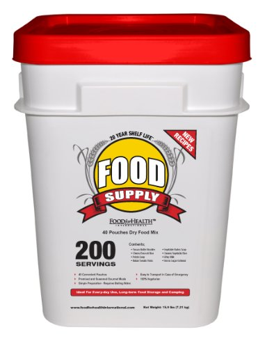 Emergency Survival Food Supply 200 Servings - 20 Year Shelf Life