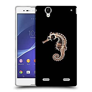 Snoogg Sea Horse Fish Designer Protective Back Case Cover For SONY XPERIA T2 ULTRA