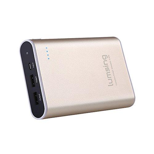 Lumsing® Batería externa 13400mAh Grand A1 Plus, Cargador portátil externo, Power bank para iPhones, iPads, Samsung Galaxy, Android y otros Smartphones (oro)