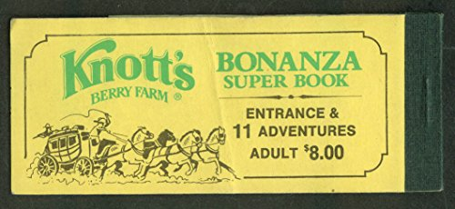 Knott's Berry Farm Amusement Park Bonanza Super Ticket Book 1960s (Amusement Tickets compare prices)