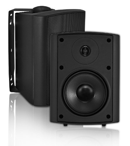 Osd Audio Ap520 Black 5.25-Inch Indoor Or Outdoor 120-Watt Patio Speaker Pair