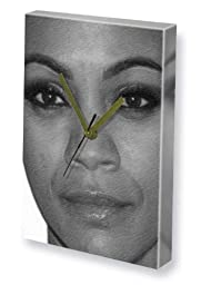 ZOE SALDANA - Canvas Clock (LARGE A3 - Signed by the Artist) #js001