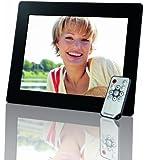 Intenso Photogallery Digitaler Bilderrahmen (24,6 cm (9,7 Zoll) LCD-Display, Memory-Kartenslot, Diashow, Fernbedienung) schwarz