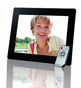 Intenso Cadre numérique Photogallery avec écran LCD 24,6 cm, fente pour carte mémoire, Diashow, télécommande Noir