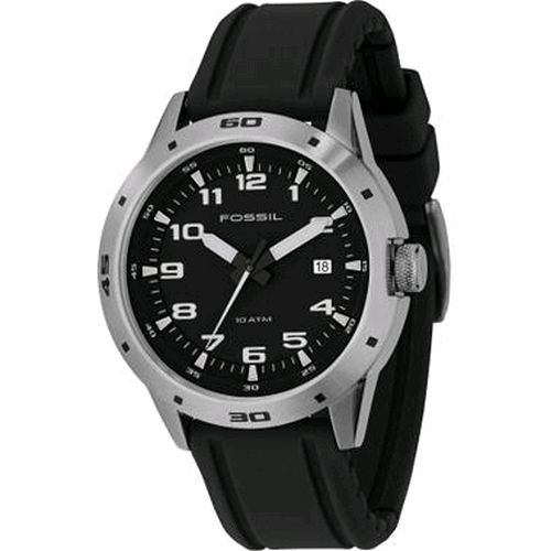 Fossil Men's AM4239 Black Rubber Watch