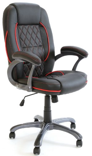 Charles Jacobs Executive High Back Support Office Chair in Black Business+Tilt Lock Mechanism