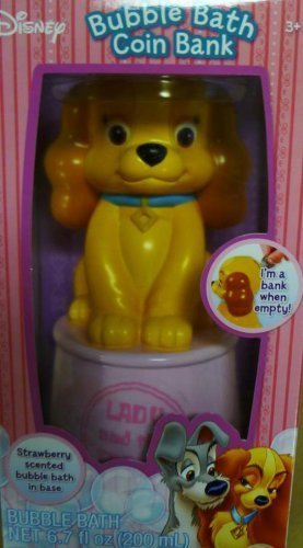 Disney Bubble Bath Coin Bank - LADY from Lady & the Tramp