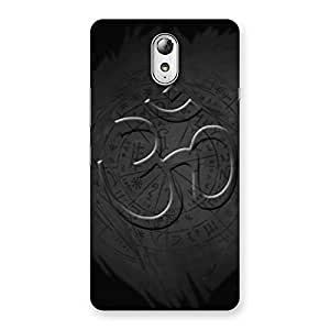 Delighted Om Grey Back Case Cover for Lenovo Vibe P1M