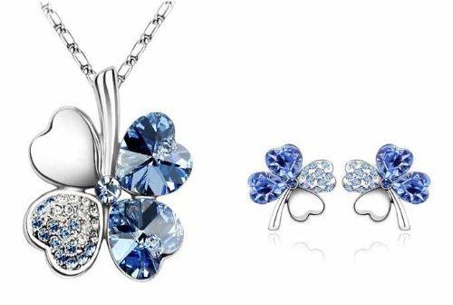 bijoux-set-de-femmes-blue-crystal-douce-four-leaf-clover-collier-boucles-doreilles-en-or-blanc-18k-c