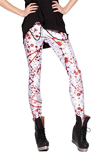 Women'S Fashion Digital Print Blood Splatter Pattern Sexy Leggings