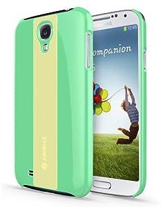 S4 Case, Samsung Galaxy S 4 Soft Premium Silicon & Hard Cover, Glow in the Dark Anti shock Good grip Slim fit (Mint)