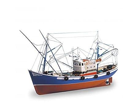 Maquette en bois - Carmen II : bateau de pêche du Nord de l'Espagne