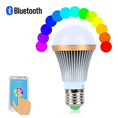 Andance Dimmable Multicolored Color Changing LED Lights Smart Bulbs for Home Office Party Dinners Energy Efficient Smartphone Controlled with Apple iPhone, iPad and Android Phones