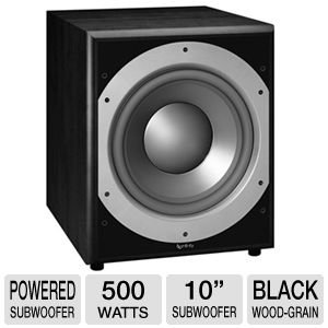 Infinity Primus Ps410 10-Inch 300-Watt Powered Subwoofer (Black)