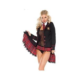 Sexy women st trinians school girl outfit tartan skirt