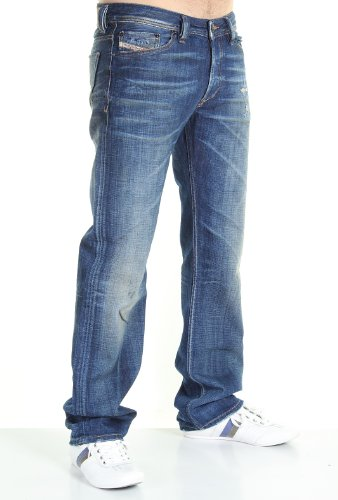 Brand New Diesel Viker 882D Mens Jeans, 0882D, Blue Eyecons Collection, Regular Fit Straight Leg (31 x 34)