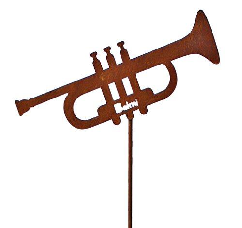 Gartenstecker-Trompete-Schnes-Geschenk-fr-Musiker