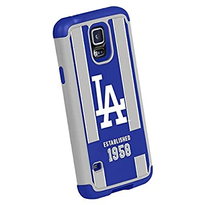 Forever Collectibles MLB Los Angeles Dodgers Dual Hybrid TPU Galaxy S5 Rugged Case