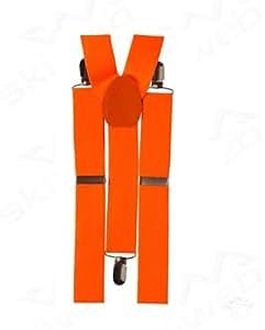 Neon Orange Ski Braces