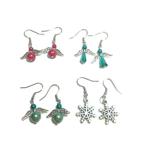 DIY Jewelry Making Christmas Earrings Jewelry Making Kit - Make 4 sets