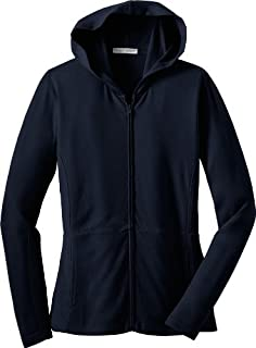 Port Authority Ladies Modern Stretch Cotton Full-Zip Jacket, true navy, Small