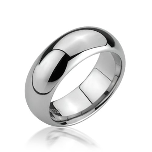 Bling Jewelry Tungsten Comfort Fit Wedding Band Ring 6mm