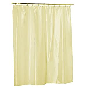 108 Extra Long Hotel Nylon Water Repellent Fabric Shower Curtain Liner Champagne