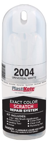 PlastiKote 2004 White Universal Scratch Repair Kit with 2-in-1 Applicator Pen (Tamper Paint compare prices)