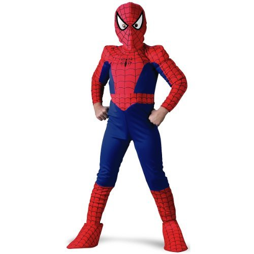 Spider-Man Deluxe Child Costume: Size 10-12 Husky by Disguise