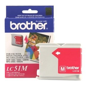 Brother Magenta Inkjet Cartridge For MFC-240C Multi-Function Printer. LC51M MAGENTA INK CART DCP130C & MFC-240C/465CN/685CW/885CW/3360C I-SUPL. Inkjet - 500 Page Black, 400 Page Color - Magenta (Brother Mfc 665cw Ink compare prices)