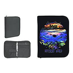New Scuba Diving 3 Ring Zippered Log Book Binder with FREE Generic Log Insert ($12.95 Value) - Same Planet, Different World (Amphibious Outfitters)