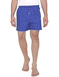 The Cotton Co Soft Boxers With Nautical Print - Rich Black