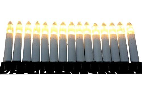 LED Lichterkette 30 Kerzen 7,3 m warm-weiss für innen