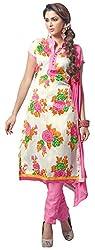 The Desi Attire Women's Bhagalpuri Silk Unsticthed Dress Material (2004_Cream_40)