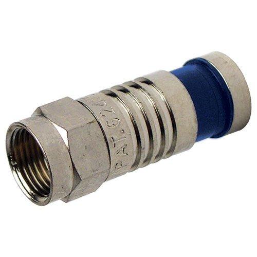 Platinum Tools SealSmart Coax Compression Connector, RG6 Quad