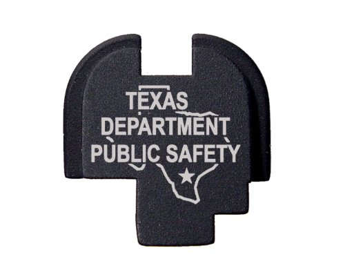 Police Tx Dps State Ol - Engraved Rear Slide Cover Plate For Springfield Armory Xds 9Mm .45Acp By Ndz Performance